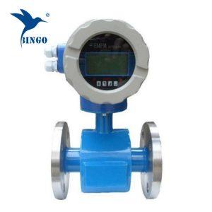 電磁流量計は、下水処理水を使用して表示を導きました